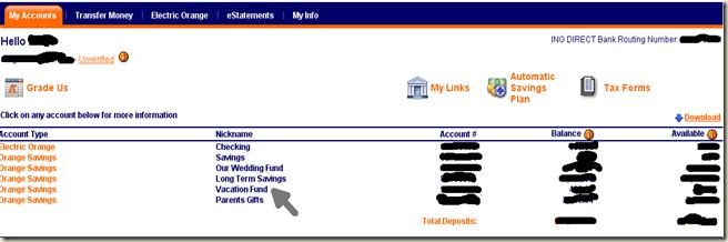 Ing Savings Accounts