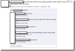 facebook status job update