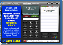 MagicJack Screen Shot