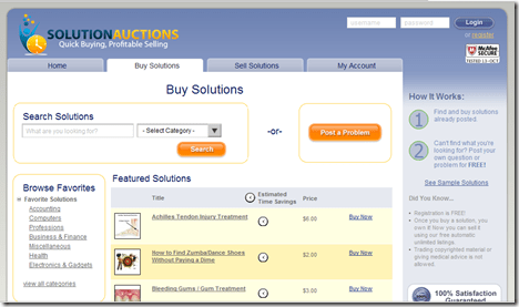 SolutionAuctions Screen Shot