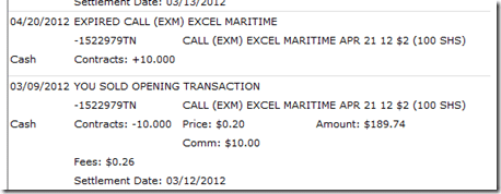 First Round of EXM Contracts