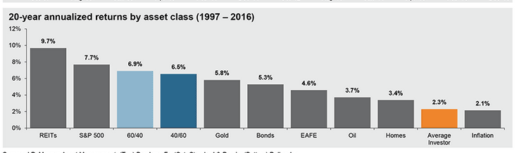 20 year annualied return by asset class