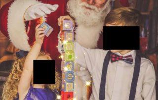 my children with santa