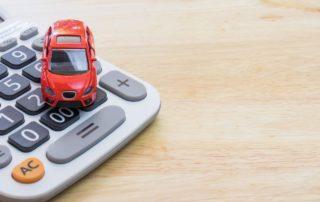 Tiny car on calculator