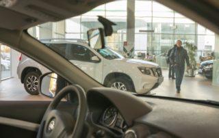 Inside a Nissan Car