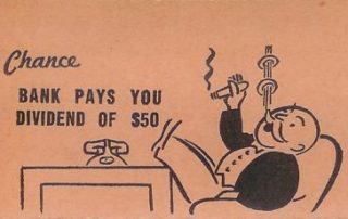 Monopoly card Dividend