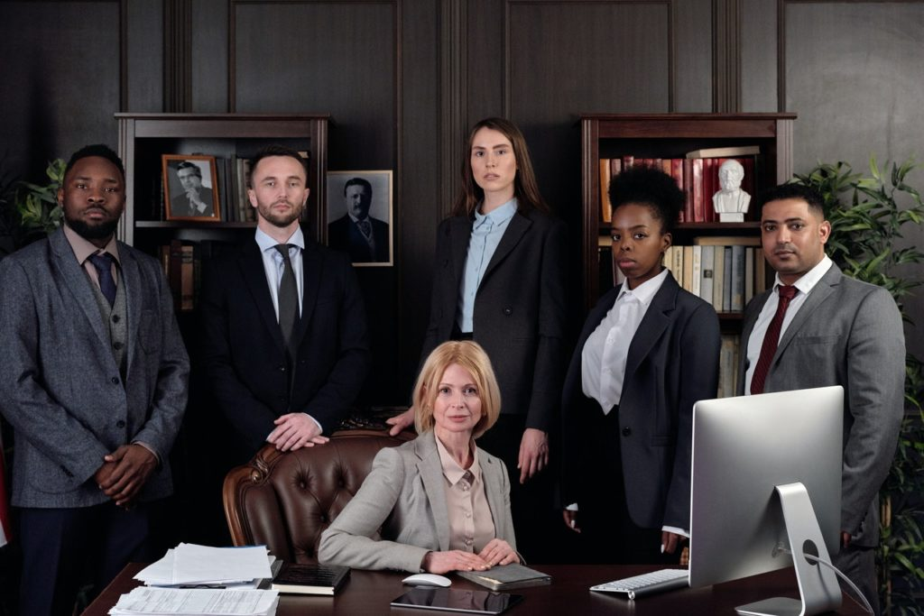 A group of financial advisors