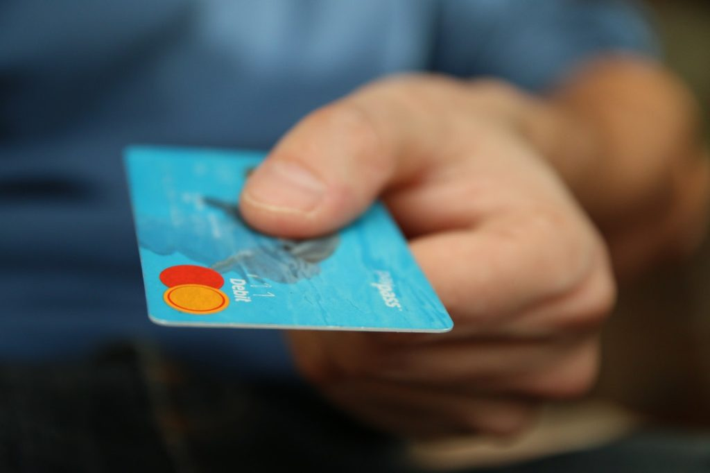 Making a purchase with a credit card